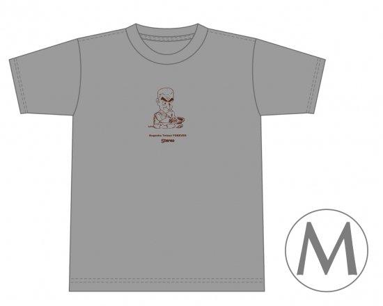 長岡鉄男ファンに捧げるオリジナルTシャツ (グレイ) — 長岡鉄男、工作中。 【Mサイズ】