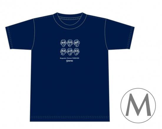 長岡鉄男ファンに捧げるオリジナルTシャツ (ネイビー) — Nagaoka Tetsuo FOREVER 【Mサイズ】