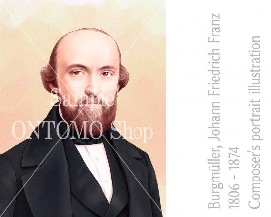 作曲家の肖像画イラスト/ブルクミュラー