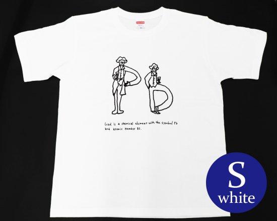 作曲家のオマージュTシャツ(ホワイト) — ベートーヴェンとワイン 【Sサイズ】
