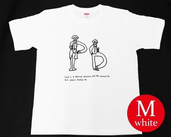 作曲家のオマージュTシャツ(ホワイト) — ベートーヴェンとワイン 【Mサイズ】