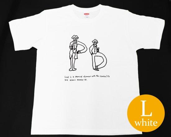 作曲家のオマージュTシャツ(ホワイト) — ベートーヴェンとワイン 【Lサイズ】