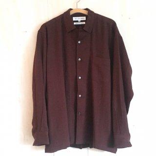 90's 'COMME des GARCONS SHIRT'  woolen open collar shirts