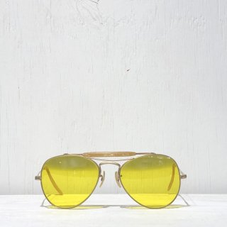 40s Sniper Teardrop Glasses  <br>Yellow Glasses