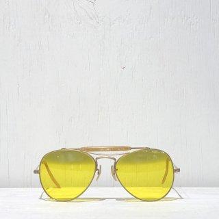 40s Sniper Teardrop Glasses  <br>Yellow Glasses