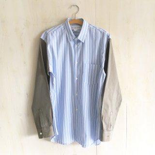 90's 'COMME des GARCONS SHIRT'  2 tone poplin shirts
