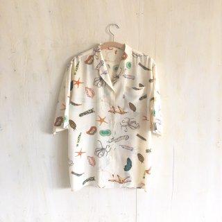 ' JIL SANDER '   silk open collar shirts