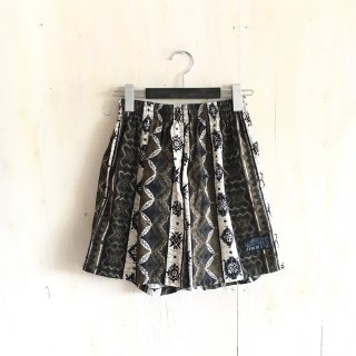 90's  ' jimmy's '  batik patern  swim shorts