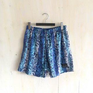 90's  ' jimmy's '  batik patern  swim shorts