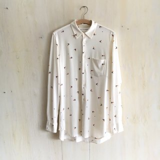 90's 'COMME des GARCONS SHIRT' <br> Cotton Jersey Shirt<br>(natural)