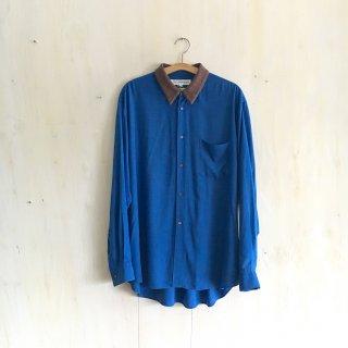 90's 'COMME des GARCONS SHIRT'  <br>Rayon Design Shirt<br>(blue)