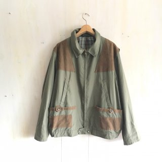 70's Old Hunting Jacket <br>Made In France<br>(khaki x check)
