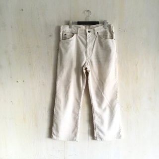 80's  levi's  corduroy pants '517' <br>Off White