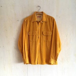50s-60s ' Town Craft by Penney's ' <br>Corduroy Shirt <br>mastard