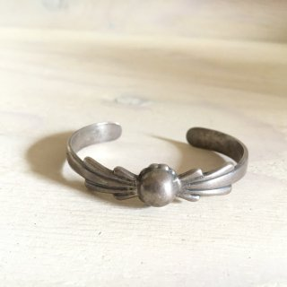 40's Silver Arrow Made Silver Dome Bangle