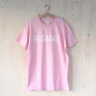 BAY GARAGE Printed T <br> Pink x White Printed
