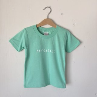 BAY GARAGE Printed T <br>Kids<br>Ice Green