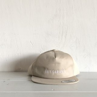BAY GARAGE Six Panel Cap<br>  Unstructured Twill <br> Beige
