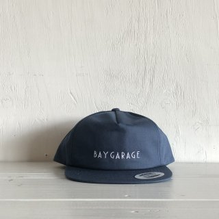 BAY GARAGE Six Panel Cap<br>  Unstructured Twill <br> Navy