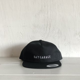 BAY GARAGE Six Panel Cap<br>  Unstructured Twill <br> Black