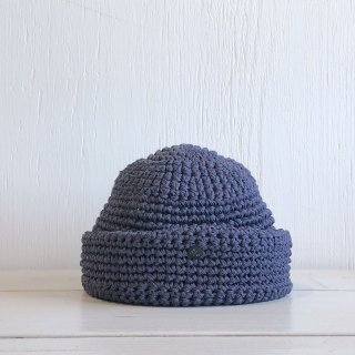 ' CPH c-plus headwear '<br> CUFF KNIT CAP <br> FRAME KNITTING<br>(indigo)