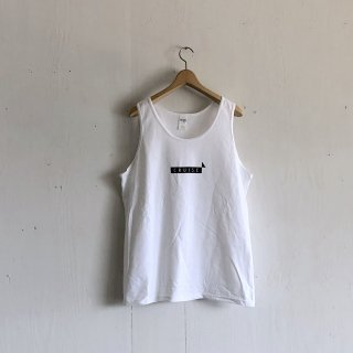 BAY GARAGE 1st aniversary <br>' CRUISE Tank '<br>  White x Black Printed