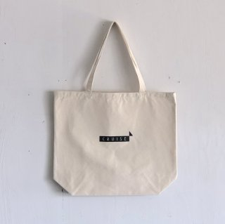 BAY GARAGE 1st aniversary <br>' CRUISE Tote '<br> Natural x Black Printed