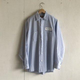 BAYGARAGE Work Shirts<br>Long Sleeve <br> Blue x White