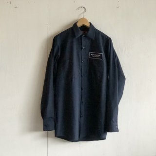 BAYGARAGE Work Shirts<br>Long Sleeve <br> Navy