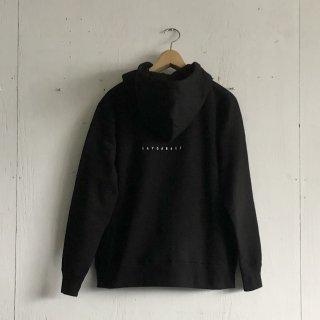 BAYGARAGE  Printed Zip Hoodie <br>New Logo<br>Black x White Printed