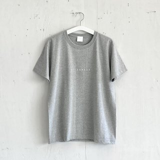 BAYGARAGE T shirt<br>New Logo<br> Gray x White Printed