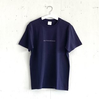 BAYGARAGE T shirt<br>New Logo<br> Navy x White Printed