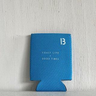 BAY GARAGE Koozie <br>Coast Life + Good Times<br>Light Blue