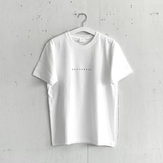 BAYGARAGE T Shirt<br>New Logo<br> White x Black Printed