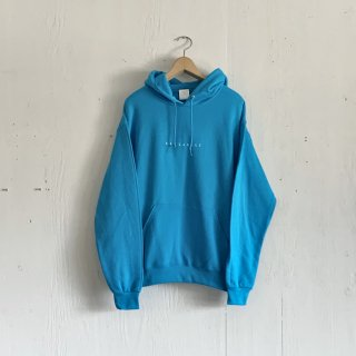 BAYGARAGE  Pullover Hoodie <br>New Logo<br> Columbia Blue x White Printed