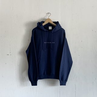 BAYGARAGE  Pullover Hoodie <br>New Logo<br>Navy x White Printed