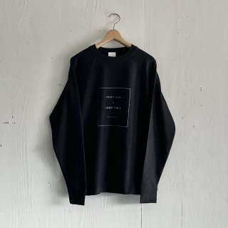 BAYGARAGE  Pullover Crew Neck <br> Coast Life + Good Times <br>Black x White Printed