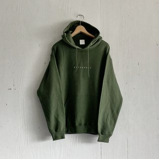 BAYGARAGE Pullover Hoodie <br>New Logo<br>Olive x White Printed