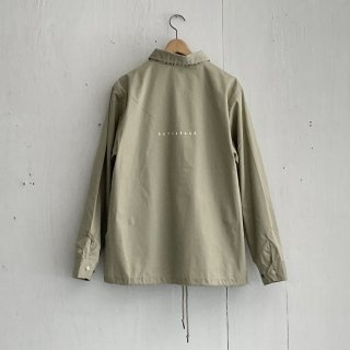 BAY GARAGE Coach JKT<br>Beige x White Printed<br>New Logo