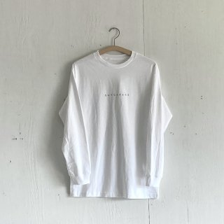 BAYGARAGE Long Sleeve T Shirt<br>New Logo<br> White x Black Printed