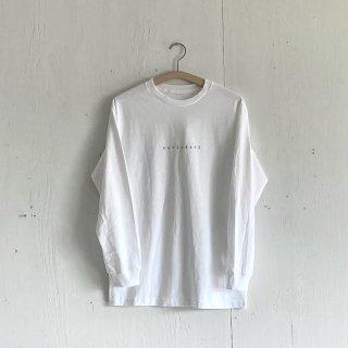 BAYGARAGE Long Sleeve T Shirt<br>New Logo<br> White x Black Printed