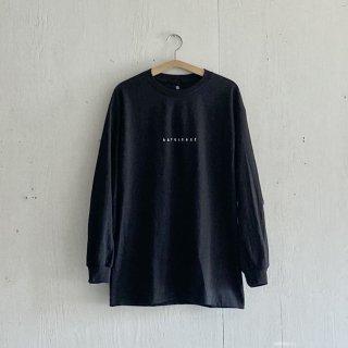 BAYGARAGE Long Sleeve T Shirt<br>New Logo<br> Black x White Printed