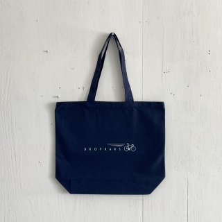 BAY GARAGE Canvas Tote Bag <br>Drop Bars<br>Navy