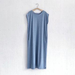 BAYGARAGE「Navy Tag」<br>Wave Pile Dress <br> Blue