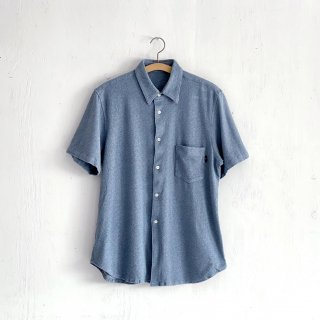 BAYGARAGE「Navy Tag」<br>Wave Pile Shirt <br> Blue