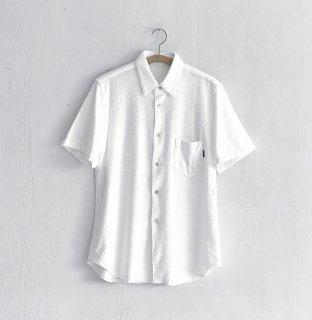 BAYGARAGE「Navy Tag」<br>Wave Pile Shirt <br> White
