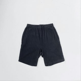 BAYGARAGE「Navy Tag」<br>Wave Pile Shorts <br> Black