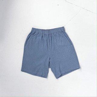 BAYGARAGE「Navy Tag」<br>Wave Pile Shorts <br> Blue