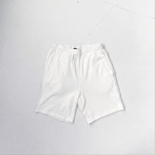 BAYGARAGE「Navy Tag」<br>Wave Pile Shorts <br> White