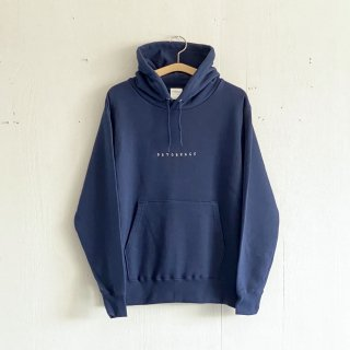 BAYGARAGE  Pullover Hoodie <br> Embroidered Logo <br>Navy